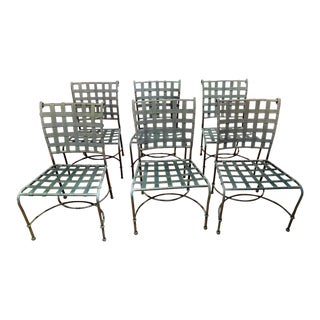 Modern Brown Jordan Florentine Aluminum Side Chairs - Set of 6 For Sale