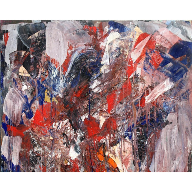 Canvas Monumental Abstract Oil on Canvas Signed Dehais For Sale - Image 7 of 10
