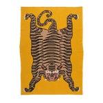 """Tiger Cashmere Blanket, Mustard, 51"""" x 71"""""""