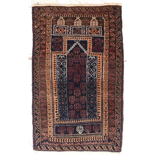 1960s Persian Gabbeh Rug-2′4″ × 2′10″ For Sale - Image 4 of 4