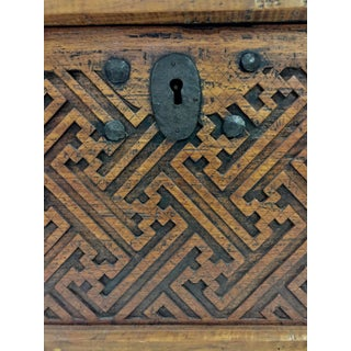 1960s Antique Moroccan Wood Carved Chest Preview