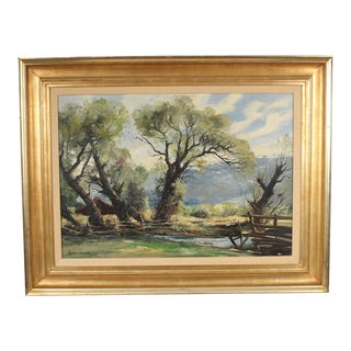 Painting of the Bishop Valley by Joshua Meador For Sale