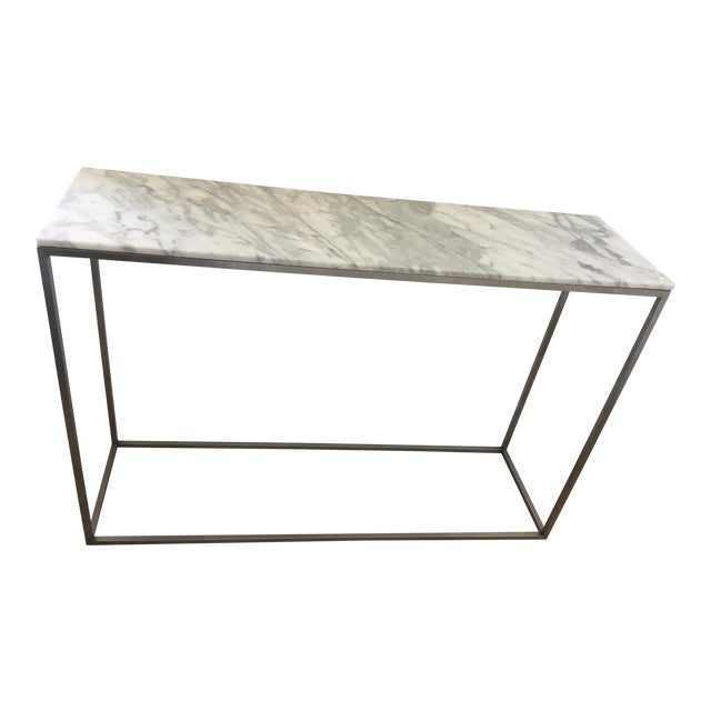 Arabescato Marble Rubik Console Table For Sale
