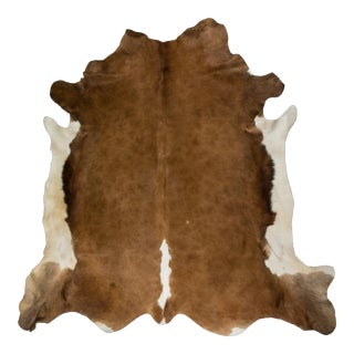 "European Handmade Cowhide Rug - 5'0"" x 5'7"" For Sale"