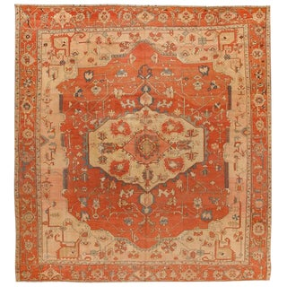 Exceptional Very Early Antique Persian Serapi Carpet For Sale
