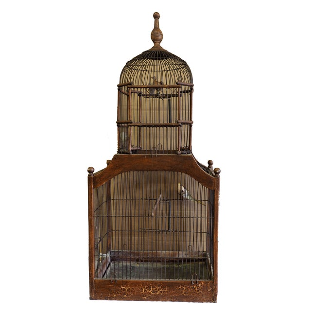 Antique 19th Century Victorian Cupola Bird Cage - Image 1 of 7