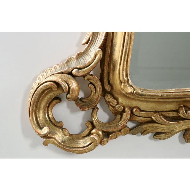 French Louis XV Style Carved Giltwood Antique Mirror - Image 2 of 10