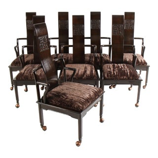 12 Widdicomb High Back Chinoiserie Dining Chairs For Sale