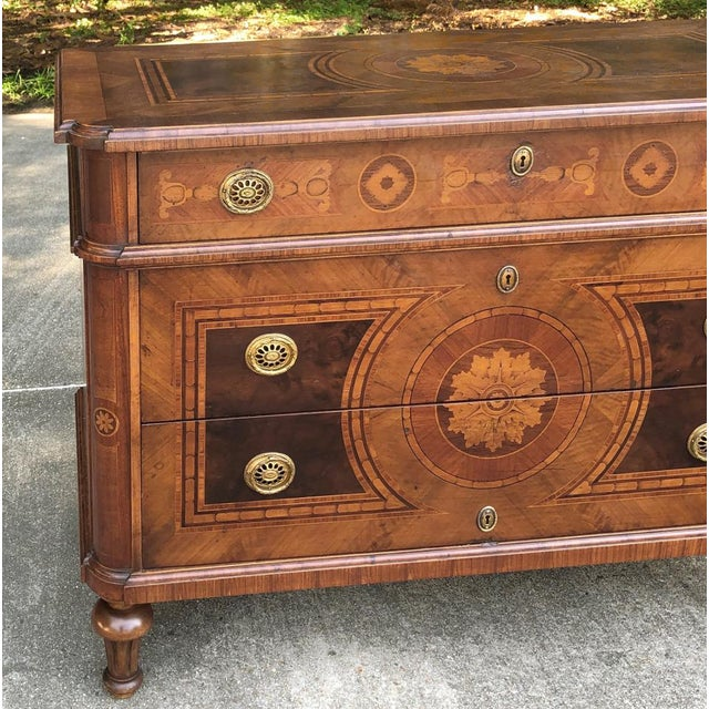 Antique Italian Marquetry Commode For Sale - Image 10 of 13