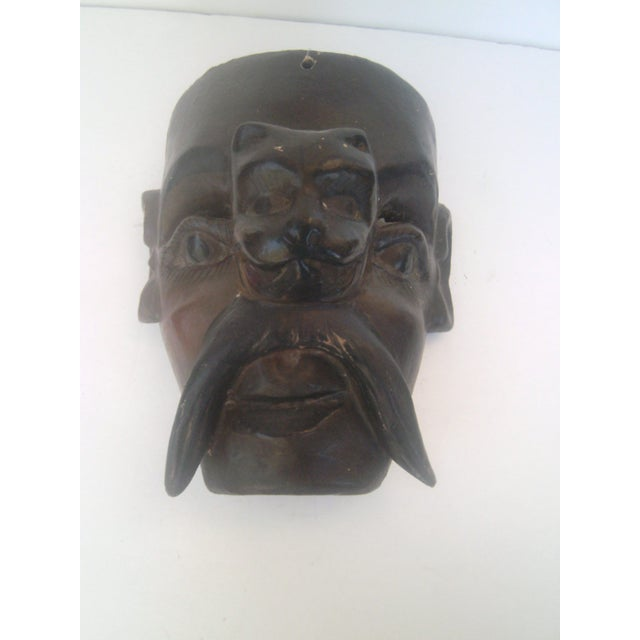 Vintage Antique Mexican Dance Mask - Two Face - Image 3 of 8