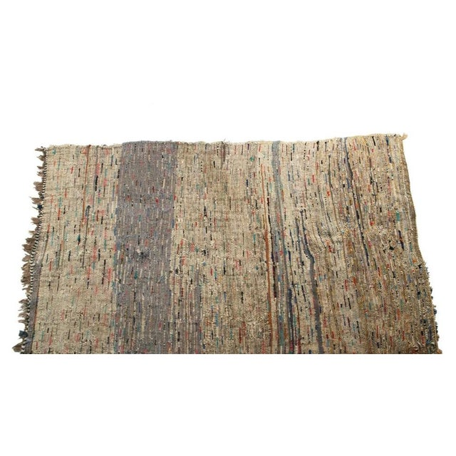 "Vintage Boucherouite Moroccan Carpet - 7' X 4'4"" - Image 3 of 4"
