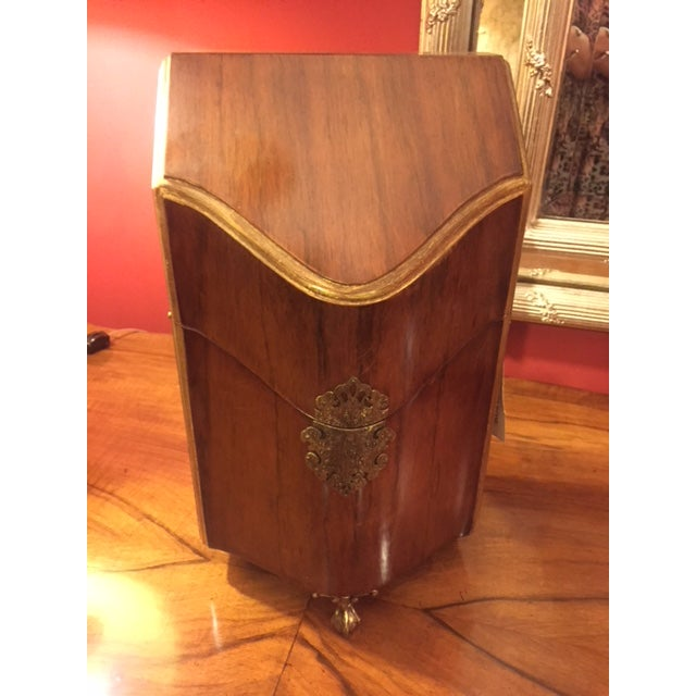 Gold Wood & Brass Letter Box For Sale - Image 8 of 8