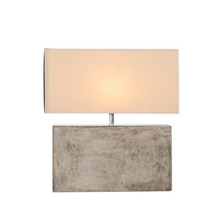 Small White Shade Table Lamp For Sale