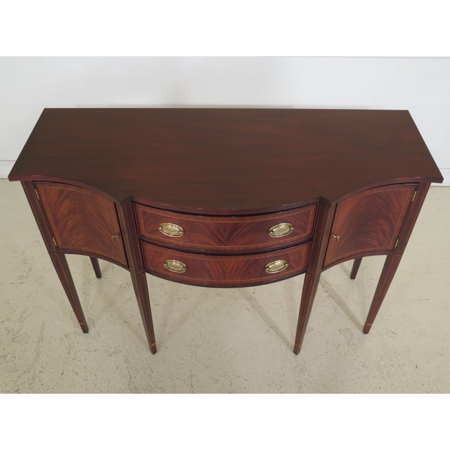 Up For Sale Is A Henkel HarrisModel 2356 Federal Mahogany Sideboard. It Has High Quality Construction With Solid Brass...