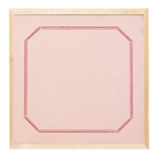 Contemporary Snail Pink Bevel Minimalist Print by Emily Keating Snyder, Framed For Sale