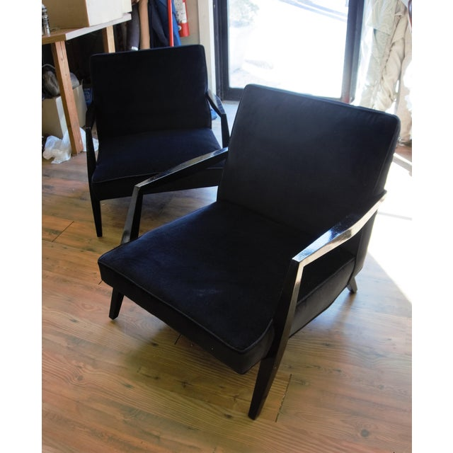 Ponti Era Fireside Low Slipper Chairs - A Pair For Sale In New York - Image 6 of 11