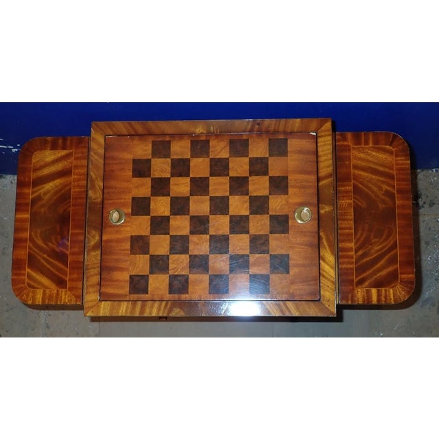 Late 20th Century 20th Century Federal Maitland Smith Reversible Inlaid Game Table For Sale - Image 5 of 11