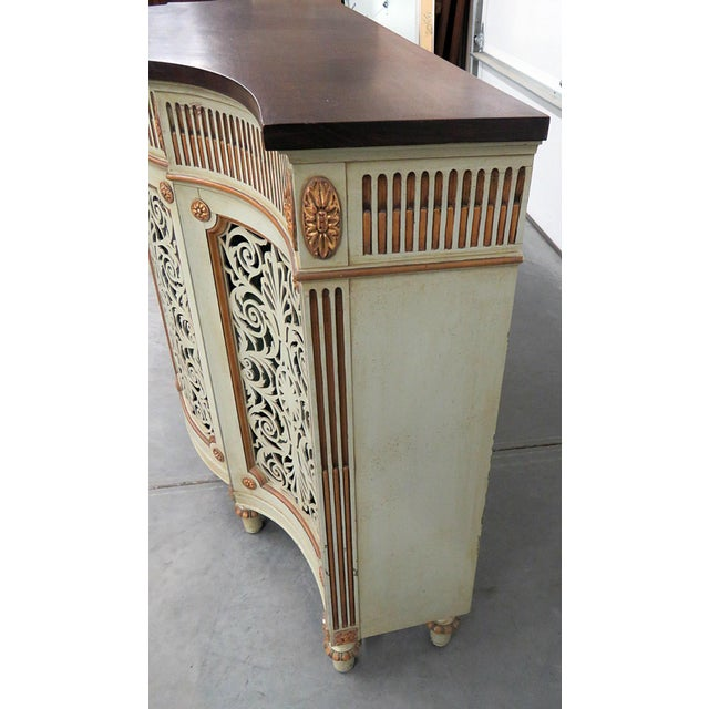 Early 20th Century Adams Style Paint Decorated Commode For Sale - Image 5 of 8