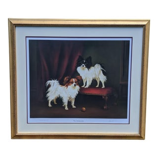 Realist Diana Howorth Signed Le 91/800 Two Papillon Continental Toy Spaniel Dogs Framed Print For Sale