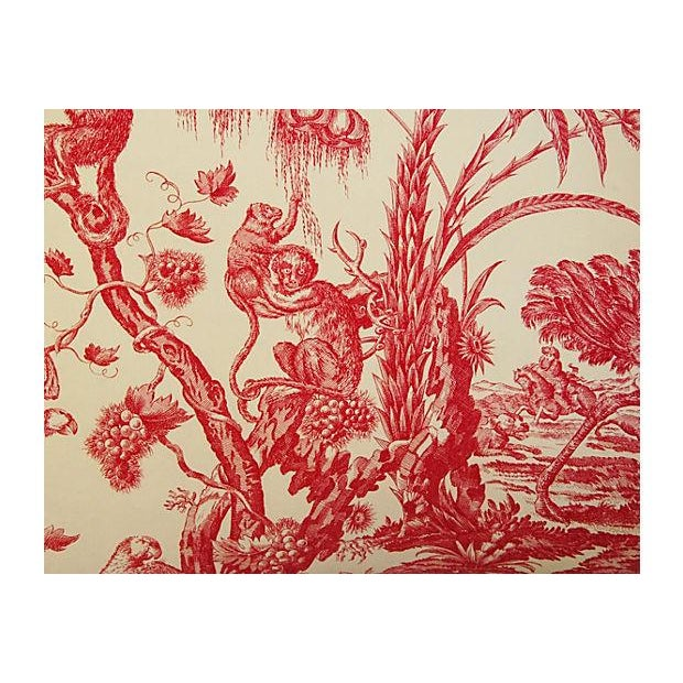 French Marius Boudin Toile & Linen Pillow - Image 3 of 7