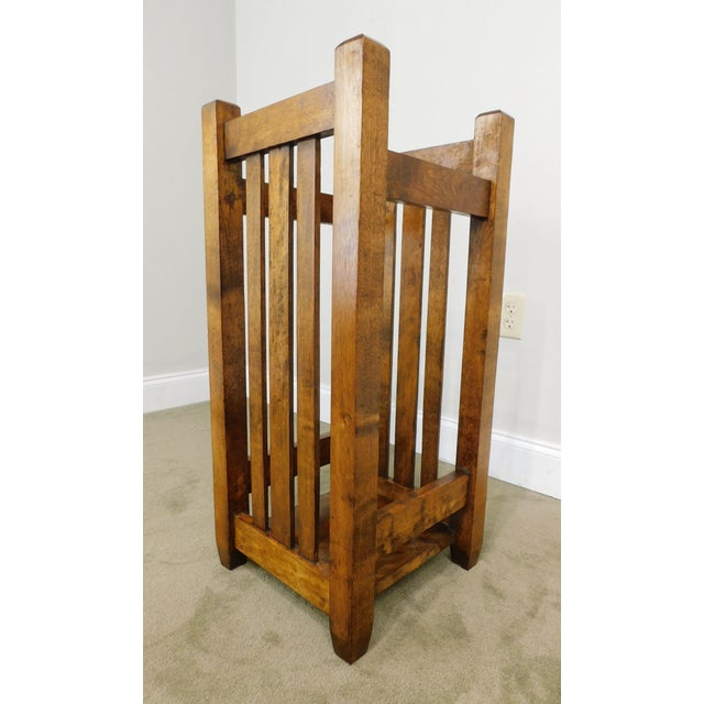 Brown Mission Style Antique Umbrella Stand For Sale - Image 8 of 13