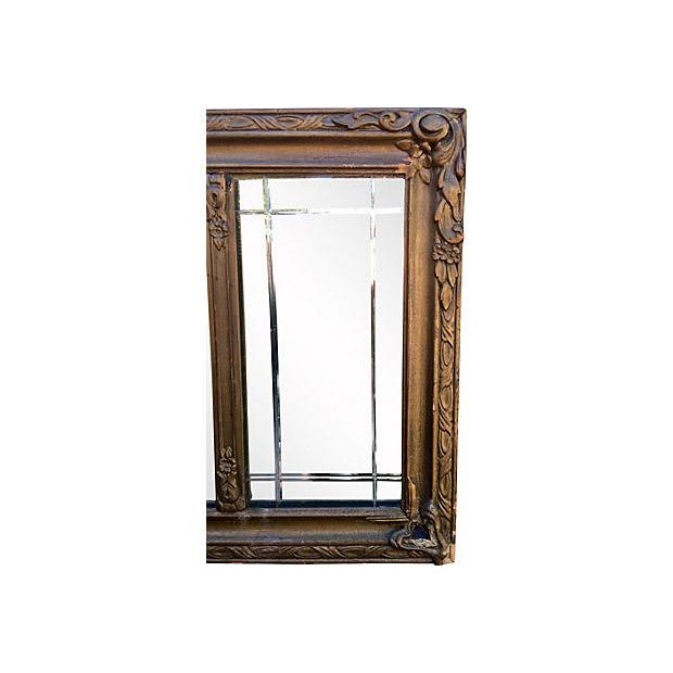 Antique Carved Wood Mantel Mirror - Image 6 of 7