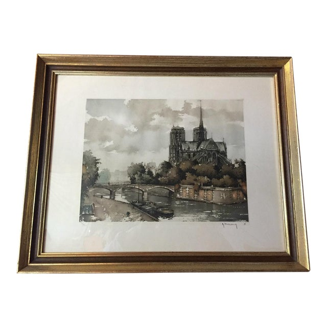 Etching of Notre Dame - Image 1 of 7
