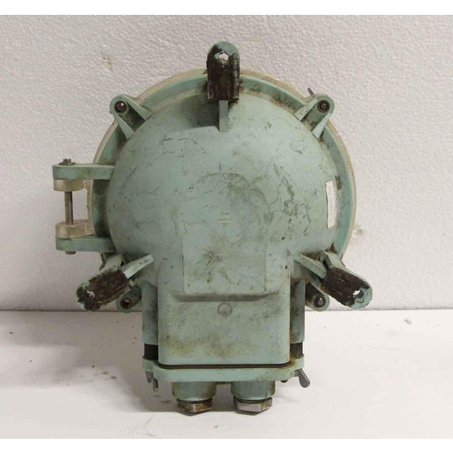 Mid 20th Century Reclaimed Lucite Green & Clear Nautical Sconce For Sale - Image 5 of 6