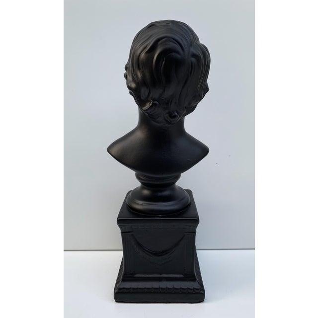 1970s Vintage Ceramic Head Bust of a Boy Sculpture For Sale - Image 4 of 7