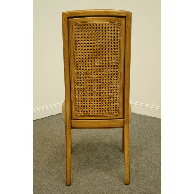 Wood Vintage Thomasville Furniture Forecast Collection Contemporary Cane Back Dining Side Chair For Sale - Image 7 of 9