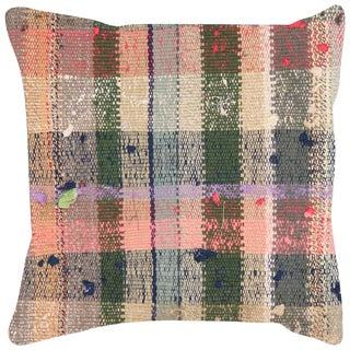 "Nalbandian - 1960s Turkish Rag Pillow - 18"" X 18"" For Sale"