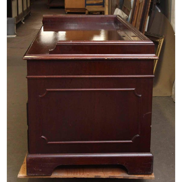 20th Century Traditional Wooden Counter Executive Desk For Sale - Image 9 of 11