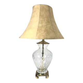 Vintage Clear Glass Table Lamp