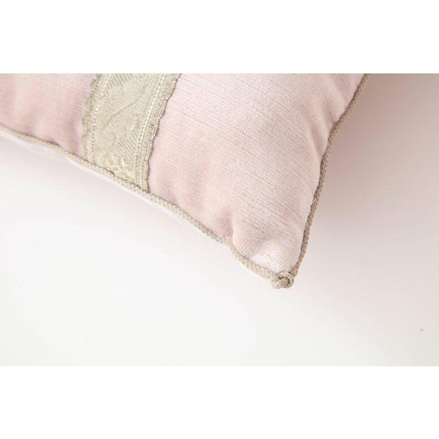 Fabric Modern Blush Pink Velvet Pillows- A Pair For Sale - Image 7 of 9