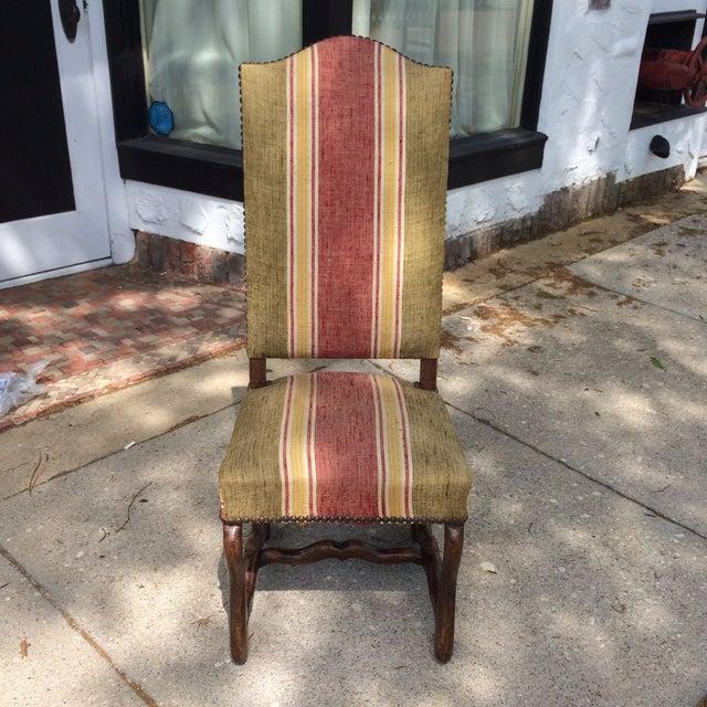 Oak Framed Oz de Mouton Upholstered Side Chair - Image 2 of 6