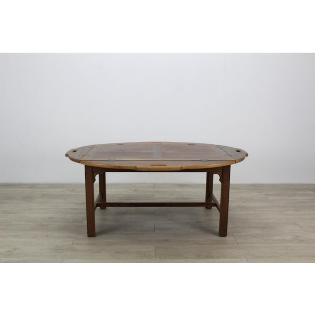 """Mid-century walnut tray table this lovely table is in great vintage condition Dimensions; 44"""" Width x 33""""Depth x 18""""Height..."""