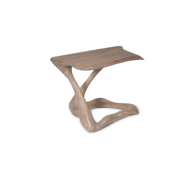 Amorph Tryst Side Table in Gray Custom Stain For Sale In Los Angeles - Image 6 of 9