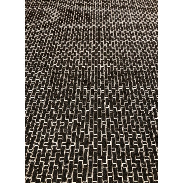 Holland + Sherry Django - Modern Obsidian 100% Wool Black and White Multipurpose Fabric - 8.5 Yards For Sale