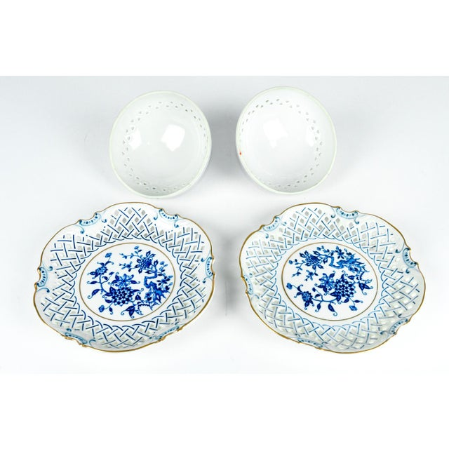 4 Piece Set of Porcelain Tableware For Sale - Image 9 of 13