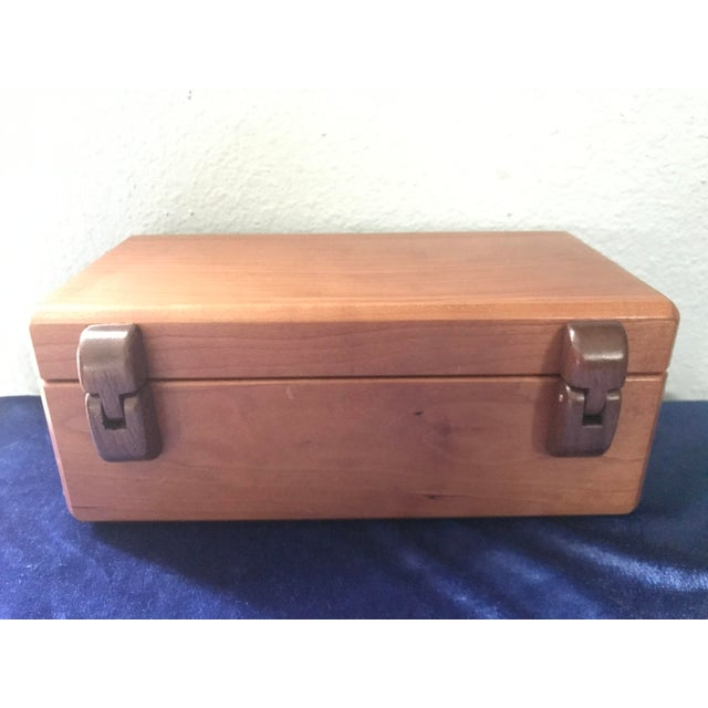 Minimalist Hand Made Wood Vanity Dresser Box For Sale - Image 4 of 9