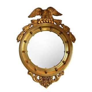 La Barge Gold Gilt Federal Convex Eagle Mirror For Sale