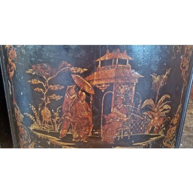 Mid 19th Century Pair of 19c American Henry Troemner Philadephia Pa Chinoiserie Tea Bins For Sale - Image 5 of 13