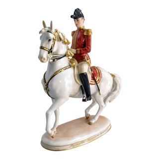 Vintage Vienna Augarten Horse Spanish Rider Riding School Austria For Sale