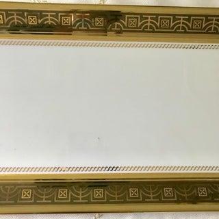 Vintage l'Objet Collectible Mythologie 24k Gold & White Porcelain Rectangle Platter Preview