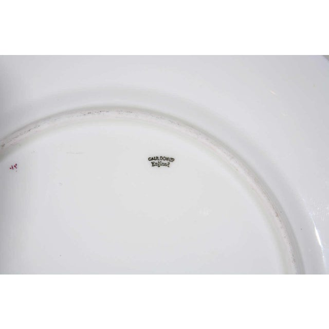 Metal Cauldon English Plates Retail by Cowell and Hubbard Company Set of 12 For Sale - Image 7 of 9