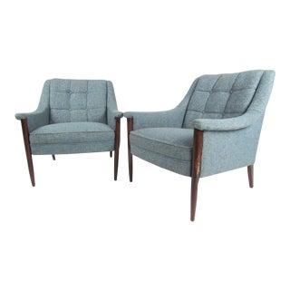 Pair Danish Modern Club Chairs
