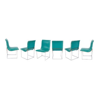 1960s Milo Baughman Style Scoop Dining Chairs - Set of 6 For Sale