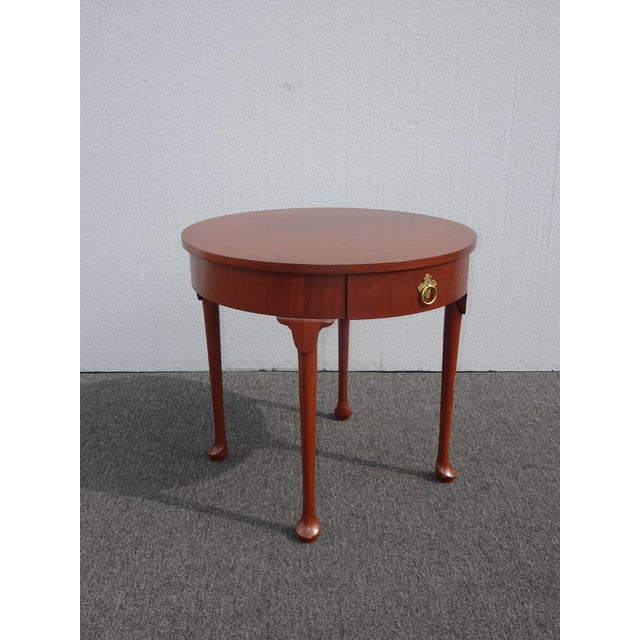 Baker Furniture Company Vintage French Country Side Table Mahogany Color by Baker Furniture Co. For Sale - Image 4 of 13