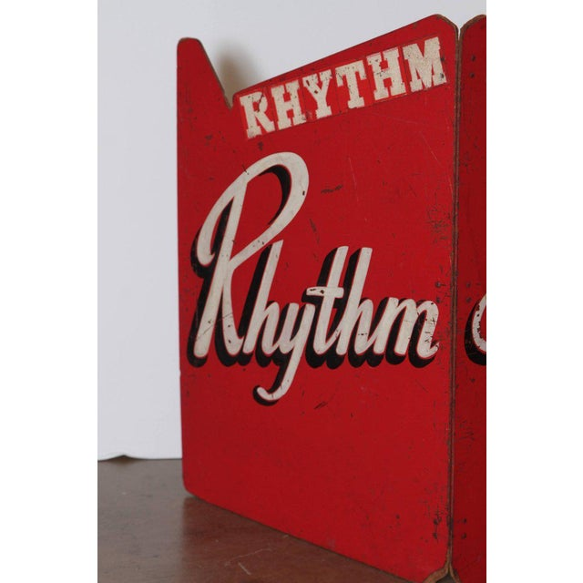 Art Deco painted wood bandstand rhythm aces from 1930s-1940s These were use as stage covers for front line Musicians,...