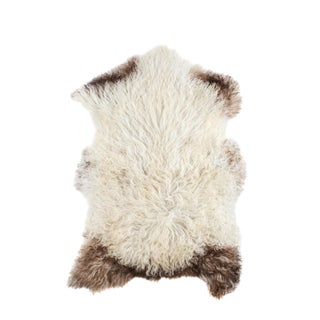 "Contemporary Long Wool Sheepskin Pelt, Handmade Rug - 2'3""x3'6"""